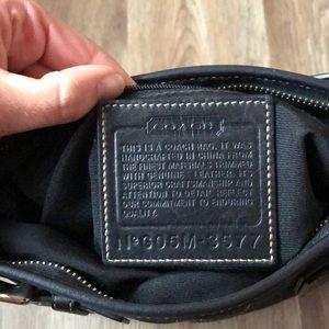 Coach Bags - Coach classic black medium shoulder bag.